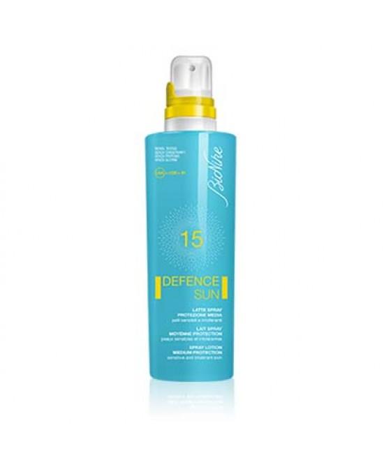 BioNike Defence Sun Latte Solare Spray Spf15 200ml - Zfarmacia
