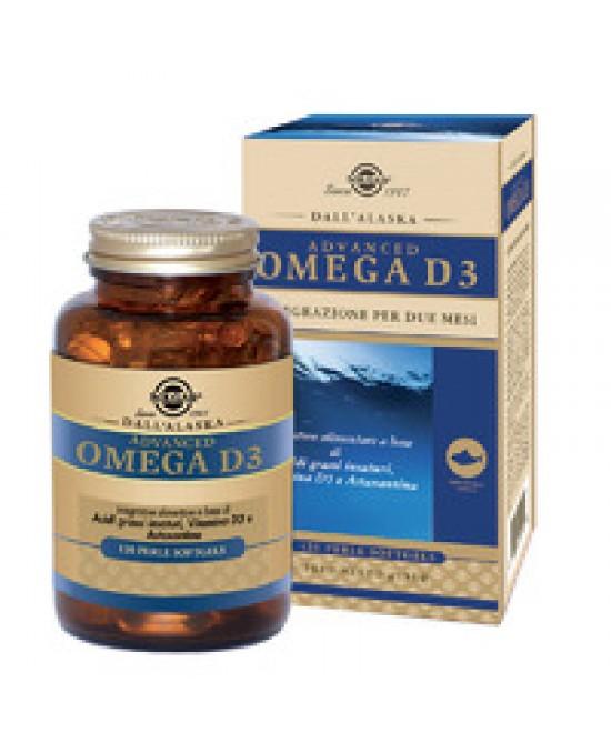 Solgar Advanced Omega D3 120 Perle - Antica Farmacia Del Lago