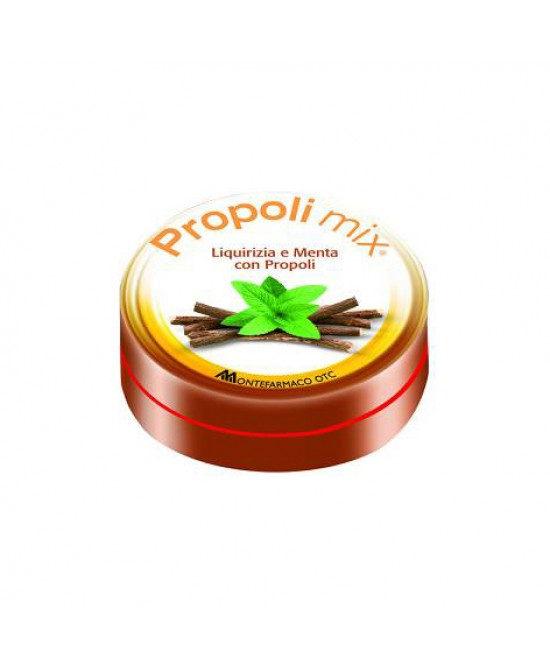 Montefarmaco OTC Propoli Mix Caramelle Liquirizia-Menta Integratore Alimentare 30 Caramelle - FARMAEMPORIO