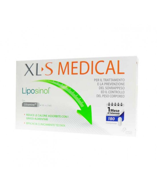Xl-S Medical Liposinol 1 Mese Di Trattamento Integratore Alimentare 180 Compresse - FARMAEMPORIO