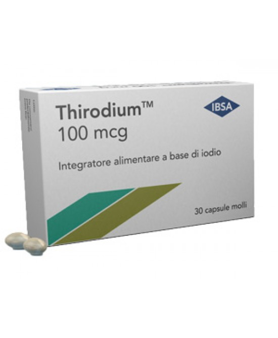 Ibsa Thirodium 100mcg Integratore Alimentare 30 Capsule - Farmamille