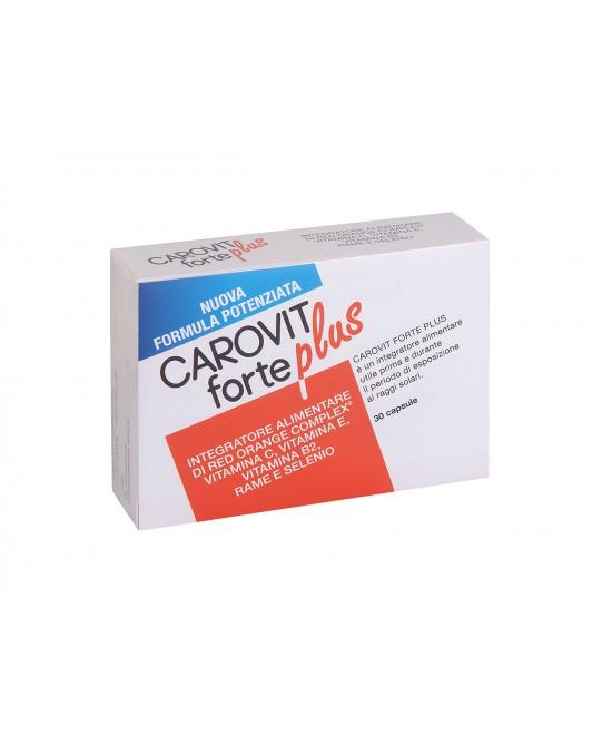 Carovit Forte Plus Nuova Formula Potenziata Integratore Alimentare 30 compresse + Derma Sol Stick In Omaggio - Farmacia 33