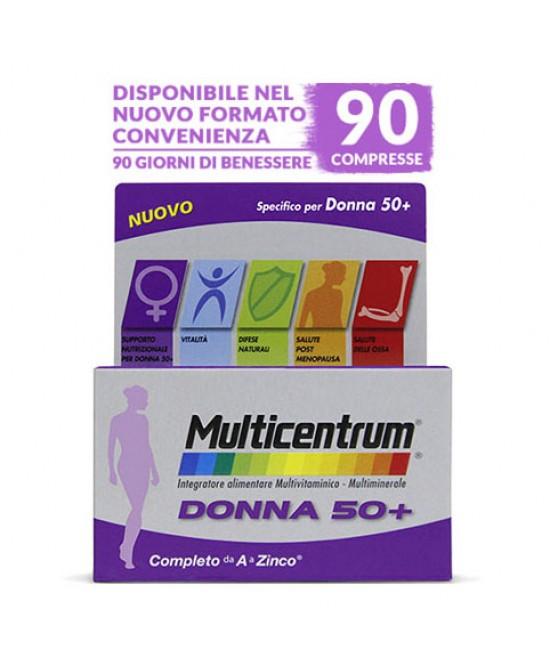 Multicentrum Donna 50+  Integratore Alimentare 90 Compresse - farma-store.it