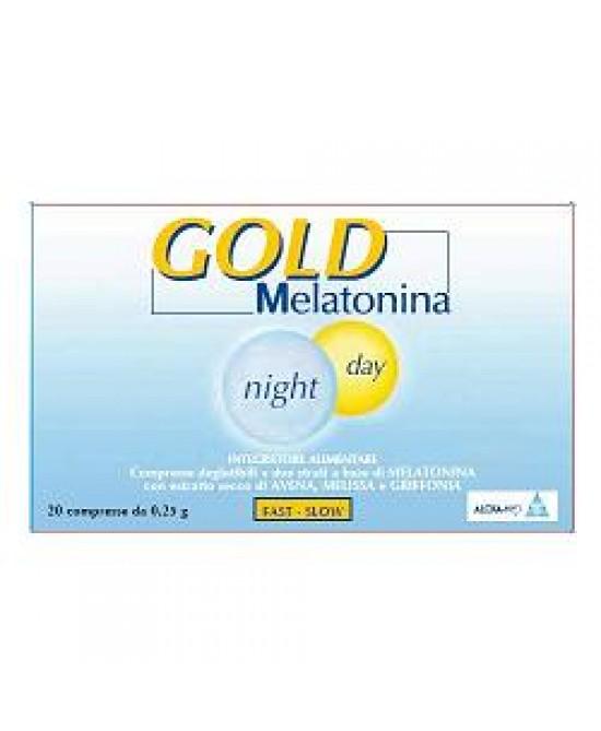 Alcka Med Srl Gold Melatonina Night Day - Integratori  20 Compresse da 0,25 g - Zfarmacia