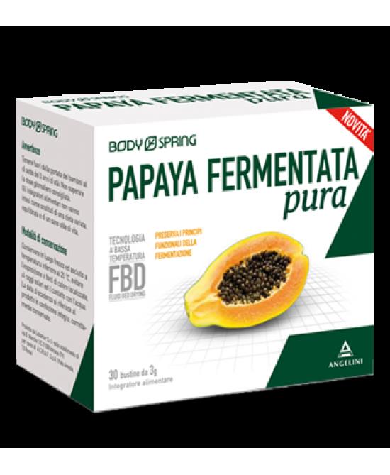 Angelini Body Spring Papaya Fermentata Pura Integratore Alimentare 30 Bustine - Zfarmacia