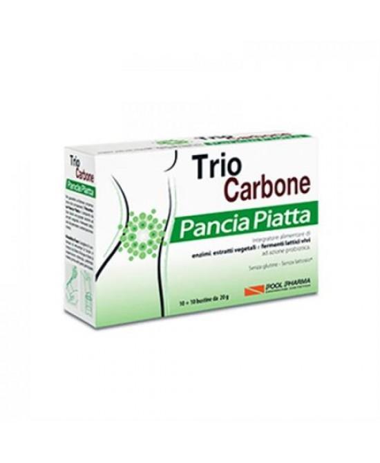Pool Pharma Triocarbone Pancia Piatta Integratore Alimentare 10+10 Bustine - Farmacento