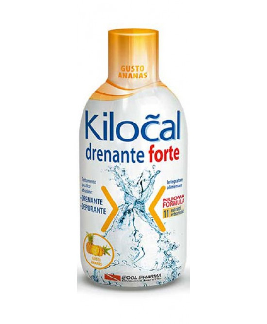 Kilocal Drenante Forte Gusto Ananas Integratore Alimentare 500ml - farma-store.it