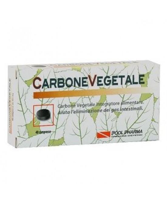 Pool Pharma Carbone Vegetale Integratore Alimentare 40 Compresse - Farmacento
