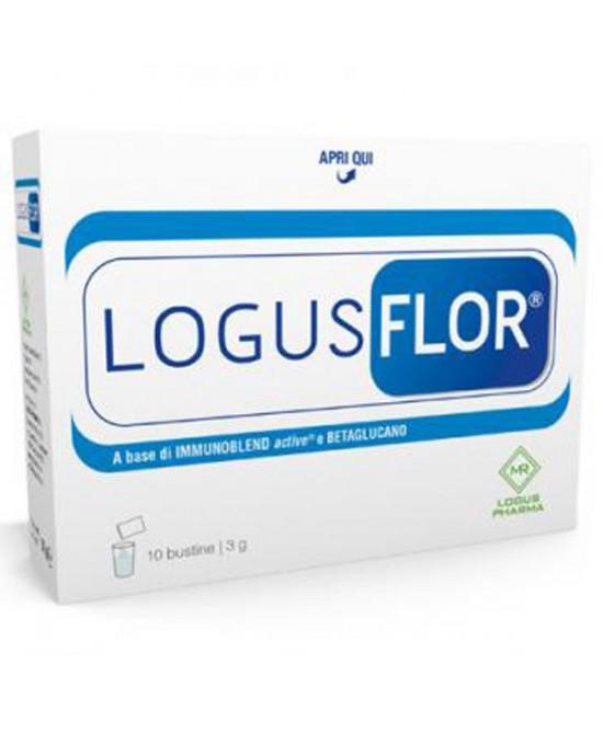 Logus Pharma Logusflor Complemento Alimentare 10 Bustine Da 3g - Zfarmacia