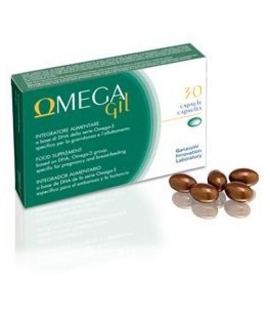 Omega Gil Integratore Gravidanza e Allattamento Nuova Formula 30 Capsule - La tua farmacia online