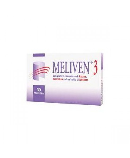 Natural Bradel Meliven 3 Integratore Alimentare 30 Compresse - La tua farmacia online