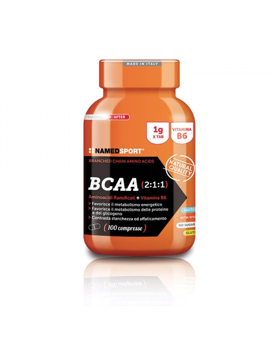 NamedSport BCAA 2:1:1 Integratore Alimentare 100 Compresse - FARMAPRIME