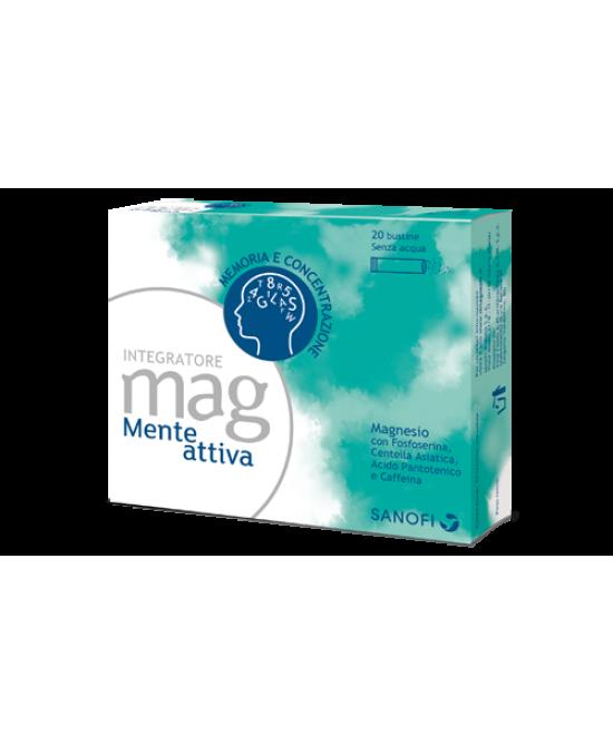 Mag Mente Attiva Integratore Alimentare 20 Bustine Orosolubili - Farmacento