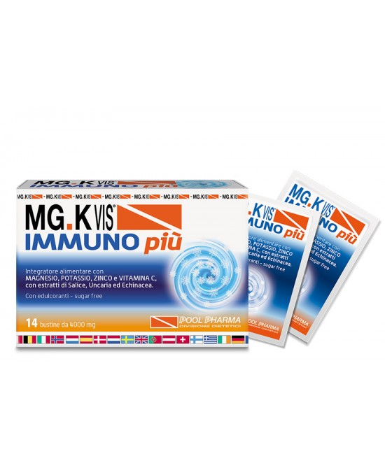 Pool Pharma Mgk Vis Immuno Più Integratore Alimentare 14 Buste - Farmacento