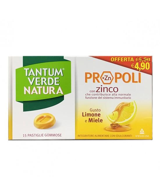 Tantum Verde Natura Pastiglie Gommose Limone & Miele 20 Compresse - FARMAPRIME