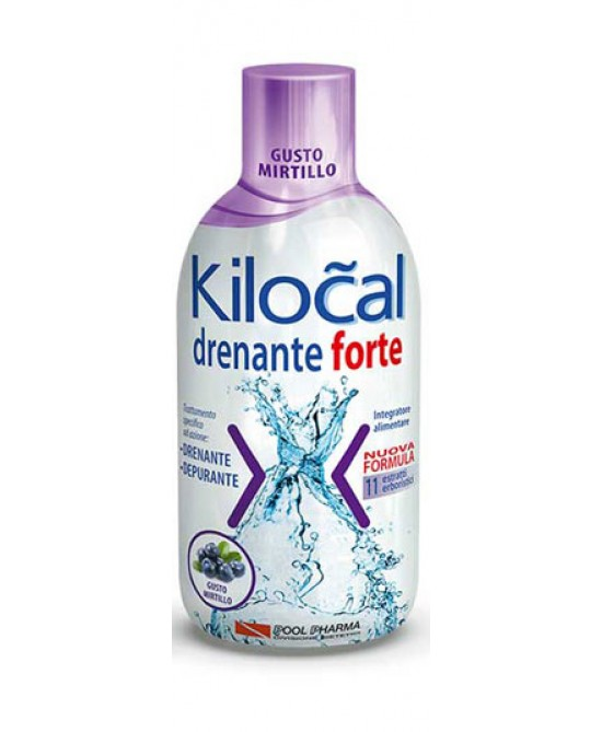 Kilocal Drenante Forte Gusto Mirtillo Integratore Alimentare 500ml - farma-store.it