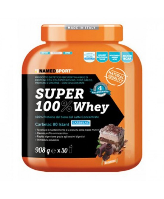 Named Sport Super 100% Whey Proteine Del Siero Del Latte Gusto Tiramisu 908g - farma-store.it