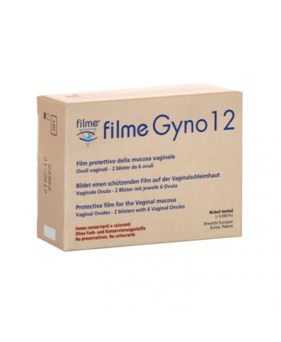 Filme Gyno 12 Ovuli Vaginali 2 Blister Da 6 Ovuli - Farmacia 33
