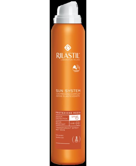 Rilastil Sun System Spray PPT Spray Trasparente SPF15  200ml - La tua farmacia online