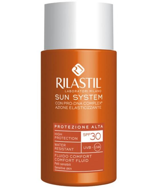 Rilastil Sun System PPT Fluido Comfort Pelli Sensibili SPF30 50ml - La tua farmacia online