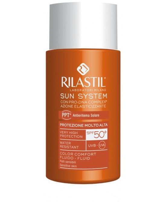 Rilastil Sun System PPT Fluido Color Comfort SPF50+  50ml - FARMAPRIME