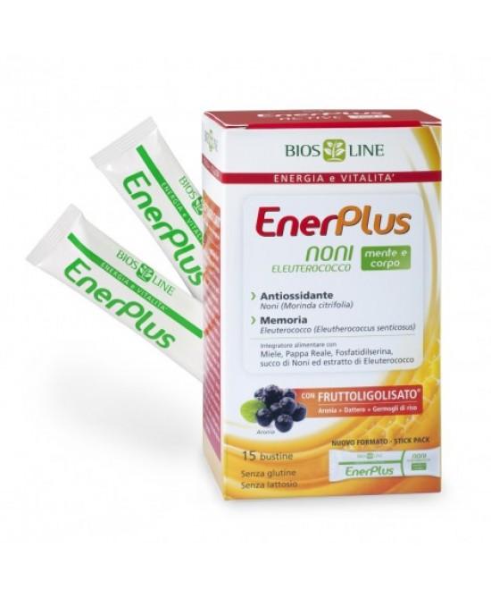Biosline Enerplus Noni-Eleuterococco Integratore Alimentare 15 Bustine - Farmastar.it