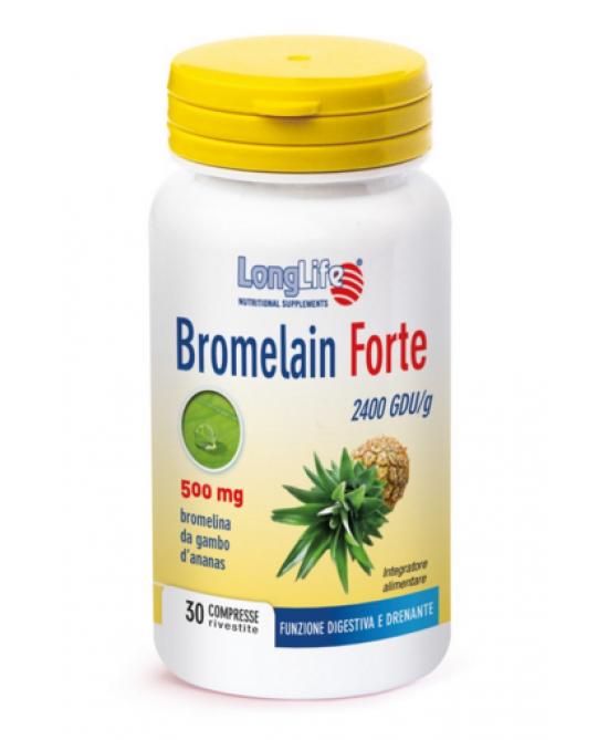 Longlife Bromelain Forte Integratore Alimentare 30 Tavolette - Zfarmacia