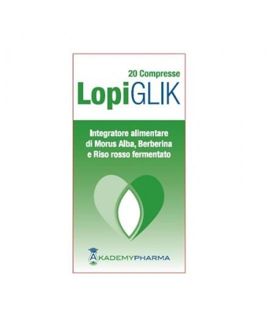 Akademy Pharma Lopiglik Integratore Alimentare 20 Compresse - Zfarmacia