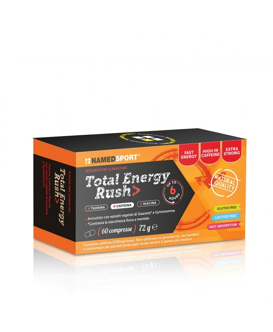 NamedSport Total Energy Rush Integratore Alimentare 60 Compresse - FARMAPRIME