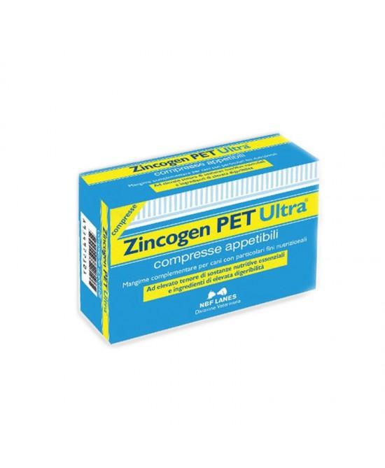 Zincogen PET Ultra Integratore Alimentare Per Cani 60 Compresse Appetibili - Farmacia 33