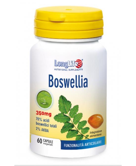 Longlife Boswellia Integratore Alimentare 60 Capsule Vegetali - Farmacia 33
