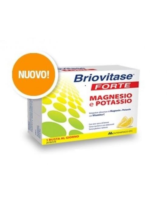 Montefarmaco Otc Briovitase Forte Integratore Alimentare Magnesio e Potassio 20 Bustine - Farmastar.it