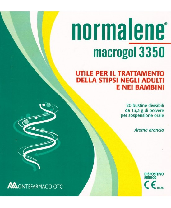 Montefarmaco Otc Normalene Macrogol 3350 Integratore Alimentare 20 Bustine - Farmacia 33
