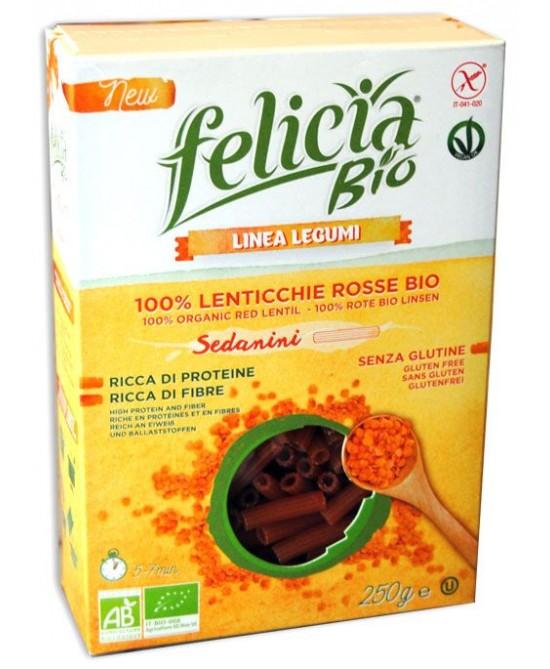 Felicia Bio Pasta Sedanini Alle Lenticchie Rosse Senza Glutine 250g - FARMAEMPORIO