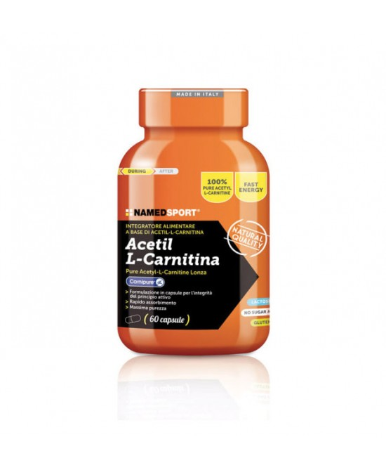 NamedSport Acetil L-Carnitina Integratore Alimentare 60 Compresse - Farmastar.it