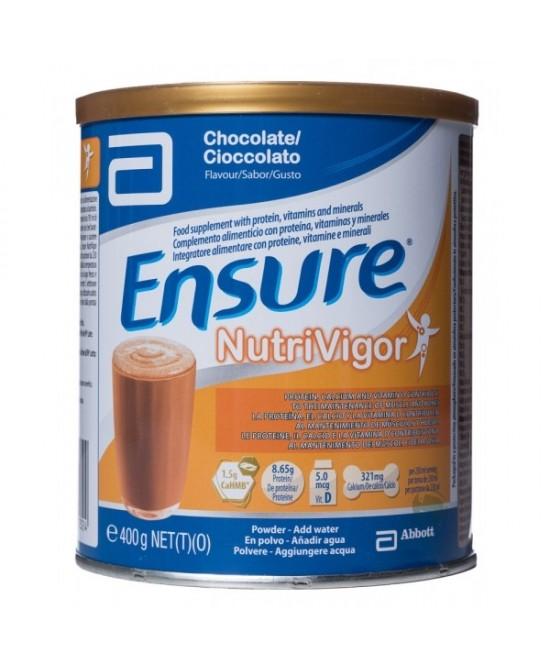 Ensure Nutrivigor Cioccolato Integratore Alimentare 400g - Farmamille