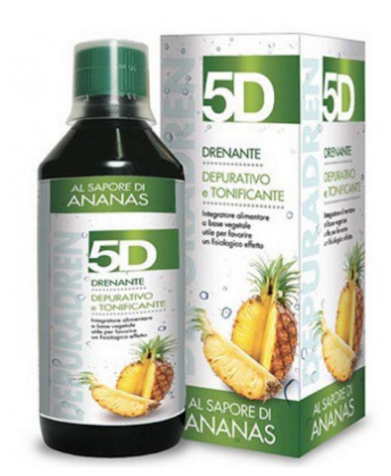 5D Drenanate Depurativo Tonificante Ananas Integratore Alimentare 500ml - FARMAEMPORIO
