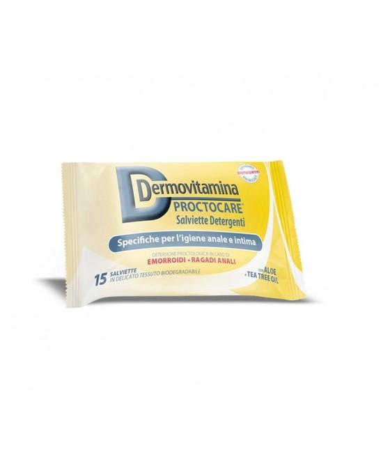 Dermovitamina Proctocare Salviette Detergenti Igiene Anale E Intima 15 Pezzi - Farmacento