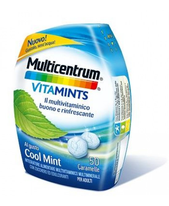 Multicentrum VitaMints Gusto Cool Mint 50 Caramelle - Zfarmacia