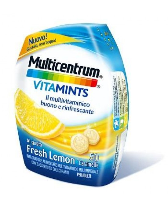 Multicentrum VitaMints Gusto Fresh Lemon 50 Caramelle - Zfarmacia