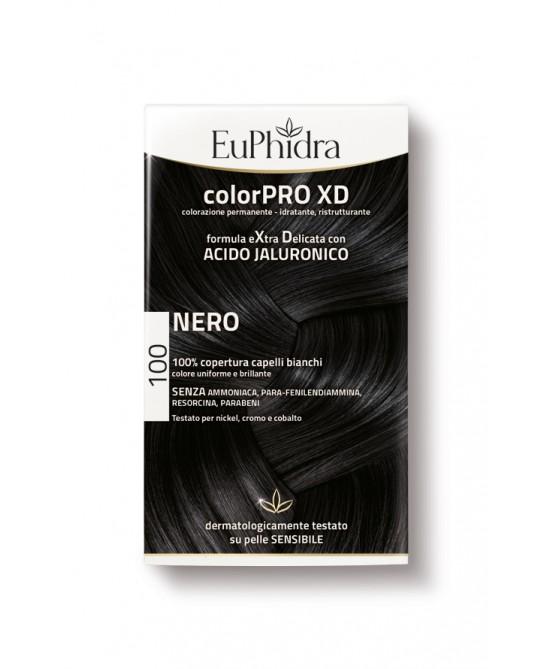 EuPhidra Colorpro XD Tintura Extra Delicata Colore 100 Nero - FARMAPRIME
