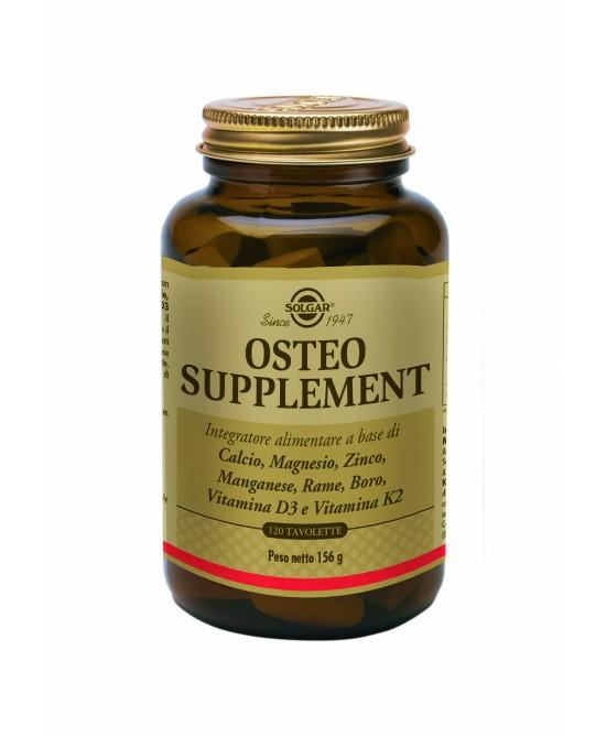 Solgar Osteo Supplement Integratore Alimentare 120 Tavolette - Antica Farmacia Del Lago