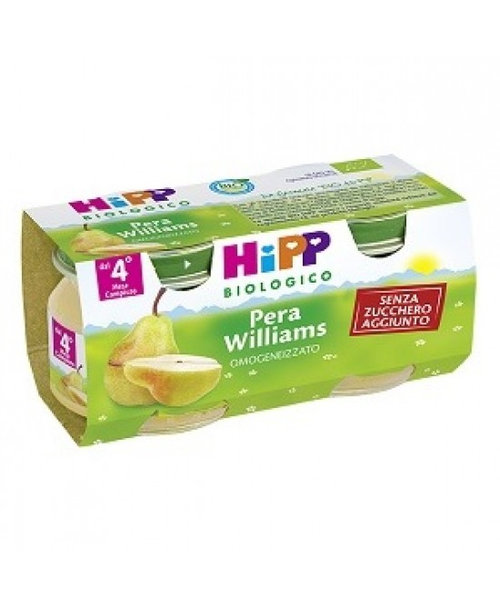 HiPP Biologico Omogeneizzato Pera Williams 2x80g - FARMAEMPORIO