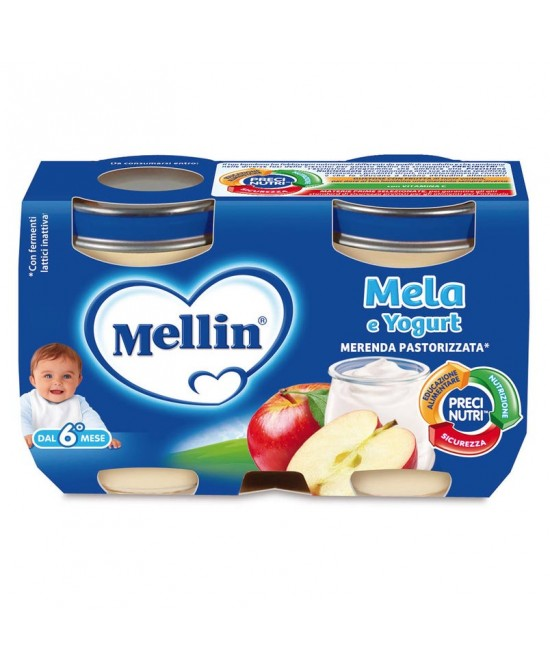 Mellin Merenda Mela Yogurt 2 x 120 g - Farmalilla