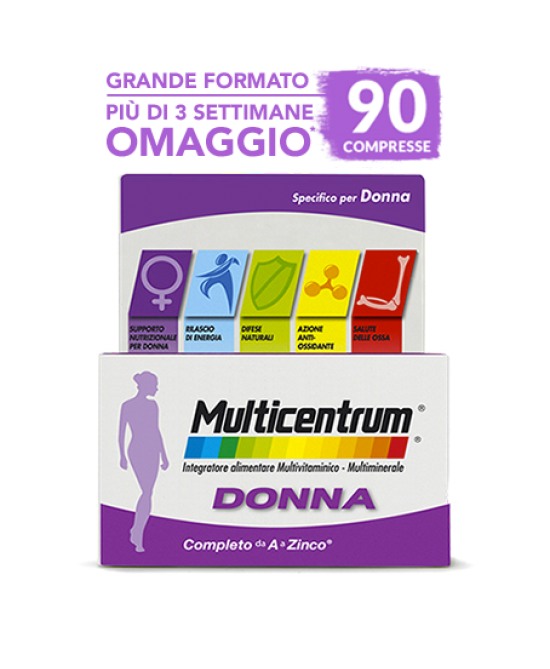 Multicentrum Donna Integratore Alimentare 90 Compresse - Farmawing