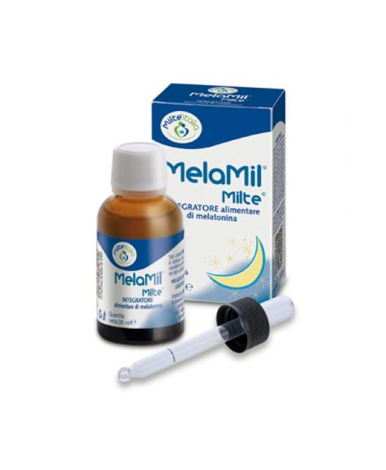 Milte Italia MelaMil Milte Integratore Alimentare Di Melatonina 30ml - Farmamille