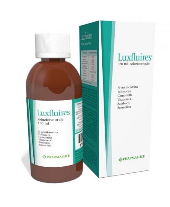 Pharmaluce Luxfluires Soluzione Orale Integratore Alimentare  150ml - La tua farmacia online