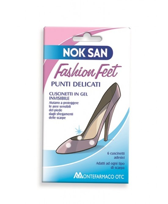 Nok San Fashion Feet Cuscinetti Per Punti Delicati 6 Cuscinetti Adesivi - FARMAEMPORIO
