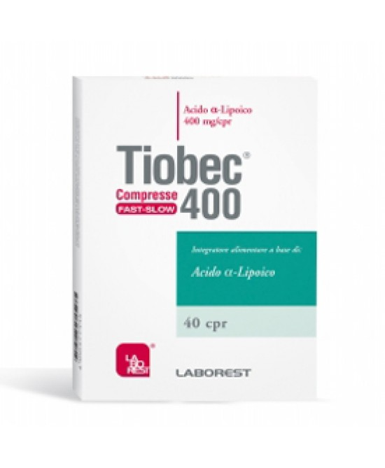 Tiobec 400 Fast Slow 40 Compresse - Farmacento