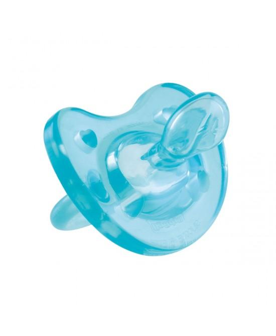 Chicco Gommotto Physio Soft  In Silicone Azzurro 0-6Mesi - Farmastar.it